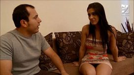 Seductive brunette starts her career with this porn video